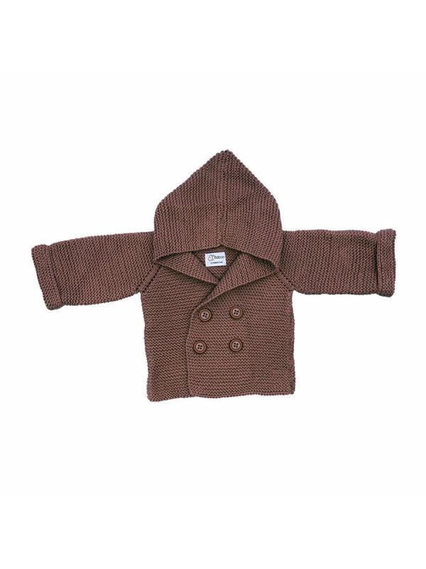 Business Brown Cardigan (By Baboo)