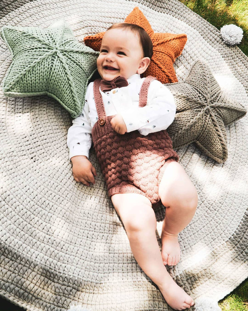 Popcorn Brown Romper (By Baboo)