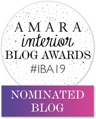 We've been nominated for the Amara Interior Blog Awards for the second time!