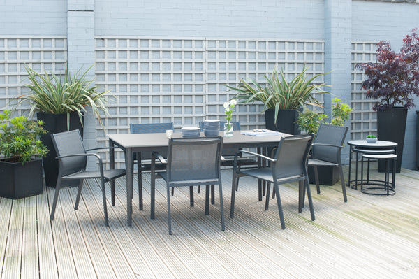 Pacific Lifestyle Anthracite Kobe Dining Set by Harley & Lola