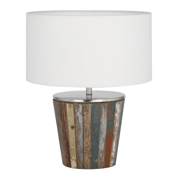Pacific Lifestyle Reclaimed Wood Tapered Lamp by Harley & Lola