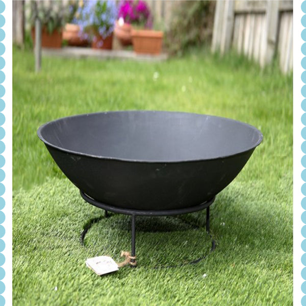 Black Fire Pit by Harley & Lola