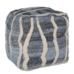Denima and Wool Pouffe by Harley and Lola