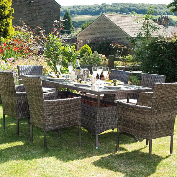Auckland Brown 6 Seater Dining Set