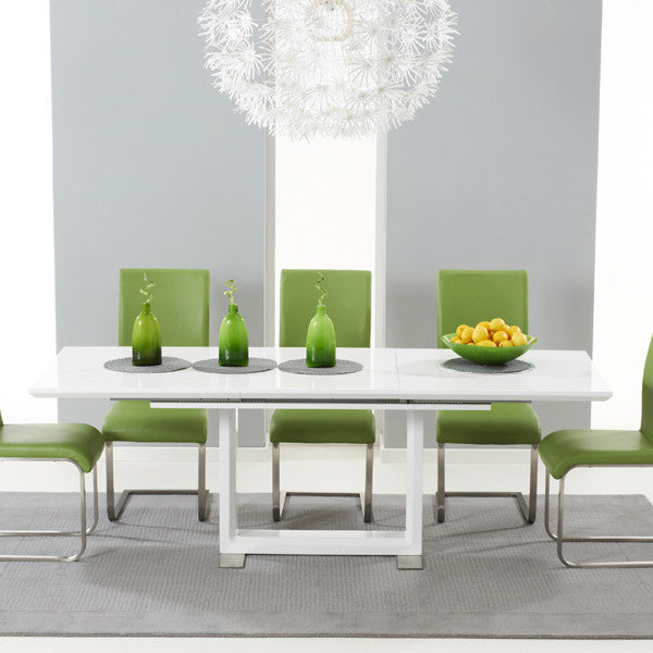 Beckley Solid Wood White Gloss Table by Harley & Lola