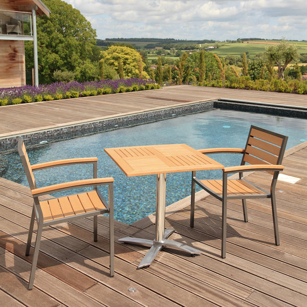 Sol Bistro® Syn-Teak™ 2 Seater Tea For Two Set by Harley & Lola