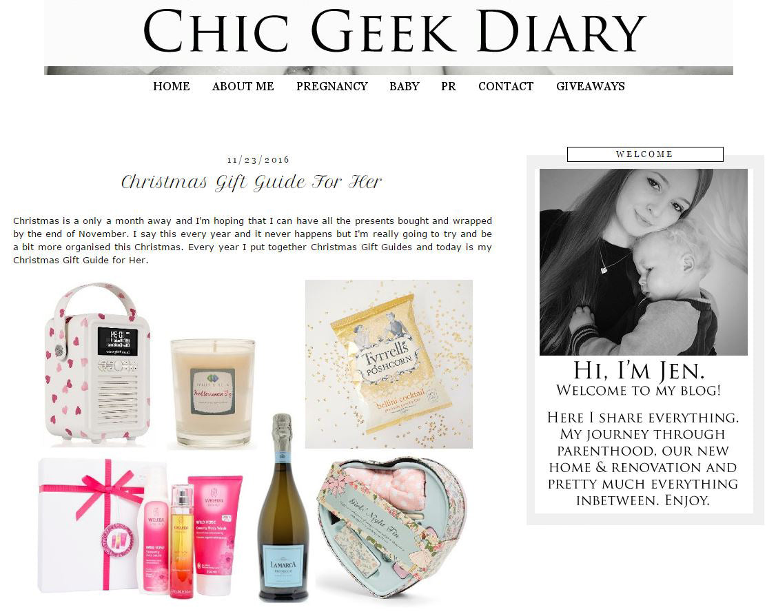Chic Geek Diary, Christmas Gift Guide For Her 23rd November 2016