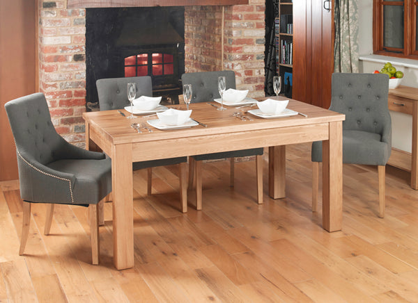 Baumhaus Mobel Extending Oak Dining Table by Harley & Lola