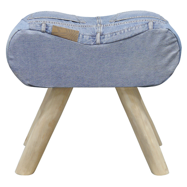 Genoa Denim Stool by Harley & Lola