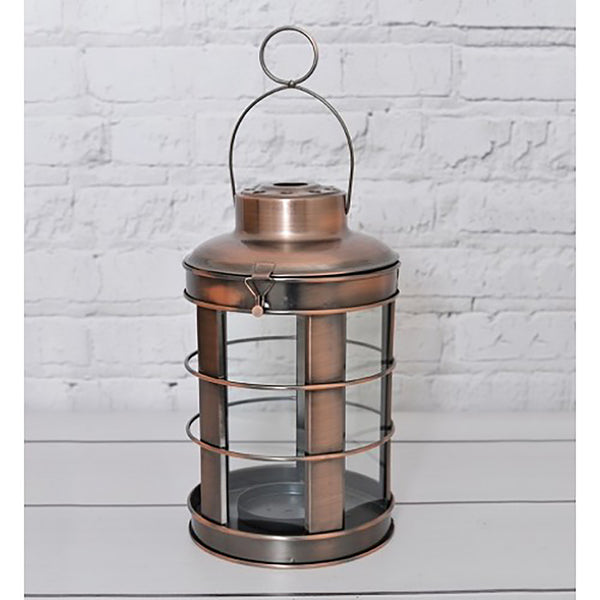 Round Copper Hurricane Lantern by Harley and Lola