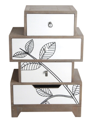 Dalston Leaf Motif Small Set of Drawers by Harley & Lola