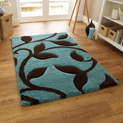 Think Rugs Fashion Blue/Brown by Harley & Lola