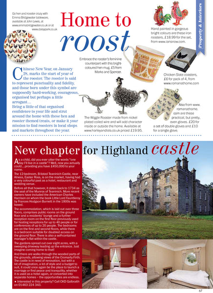Highland Life Magazine January 2017, Home To Roost