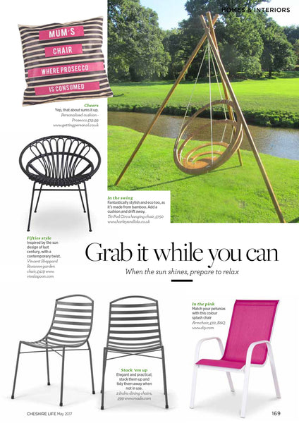 Tri-pod hanging chair by Harley & Lola
