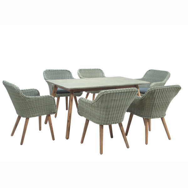 Handpicked Midori 6 Seat Rectangular Garden Dining Set by Harley & Lola