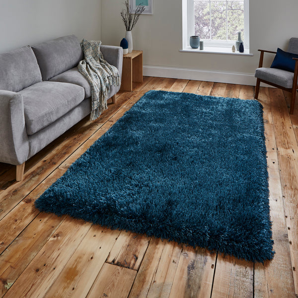 Think Rugs Montana Steel Blue by Harley & Lola