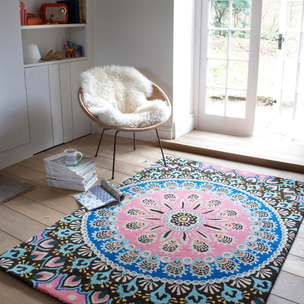 Plantation Rug Co. Nomadic Blue/Pink by Harley & Lola
