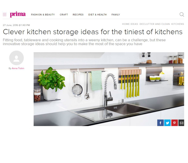 Prima Magazine Online, Clever Kitchen Storage Ideas June 2016