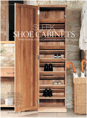Mobel Oak shoe Cupboard by Harley & Lola