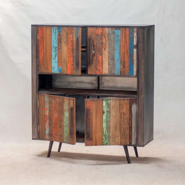Nordic Reclaimed Buffet Sideboard 4 Doors by Harley & Lola