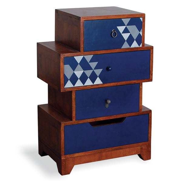 Bluebone Dalston Navy Small Set of Drawers by Harley & Lola