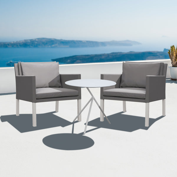 Cozy Bay Verona Aluminium & Fabric 2 Seater Tea for Two Set by Harley & Lola