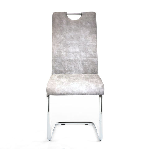 Talia Handle Back Suede Effect Dining Chair (Pair)