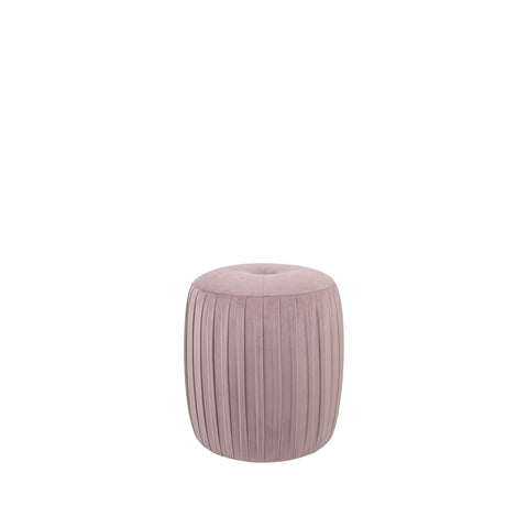 Pacific Lifestyle Velvet Buttoned Cylinder Pouffe