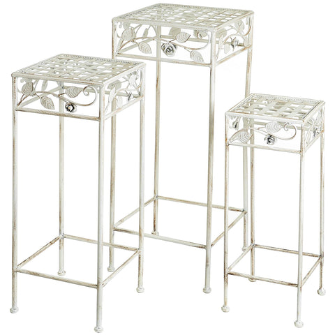 Rose Nest Of 3 Square Tables - - Garden & Conservatory by WDS4U available from Harley & Lola - 1