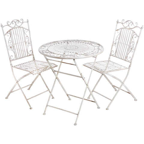 Rose Folding Garden Table and Chairs