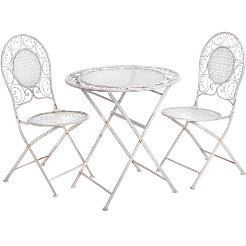 Rose Cream Table and Chair Set