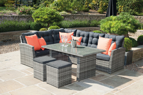 Cayman Grey 5 Piece Dining Set - - Garden & Conservatory by Pacific available from Harley & Lola - 1