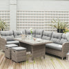 Pacific Lifestyle Grey Antigua Relaxed Corner Dining Set