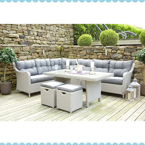 Slate Grey Antigua Relaxed Corner Dining Set by Harley & Lola