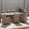 Pacific Lifestyle Dove Half Round Aruba 8 Seater Squoval Dining Set