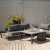 Pacific Lifestyle Anthracite Kobe Seating Set with Fire Table