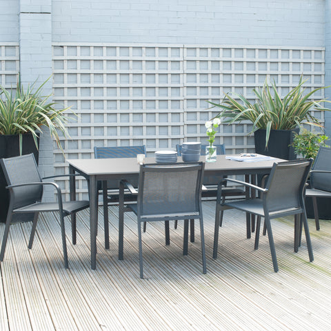 Pacific Lifestyle Anthracite Kobe Dining Set