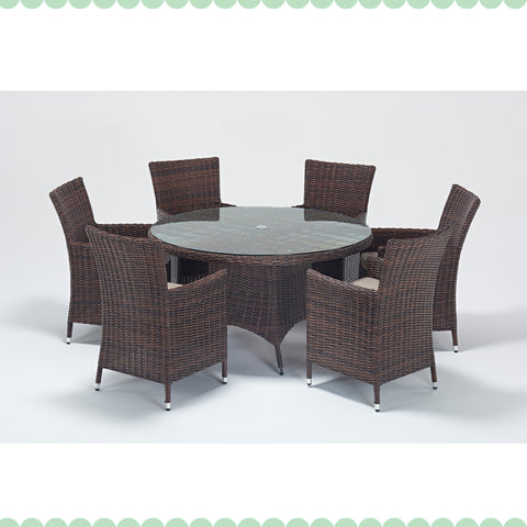 Port Royal Windsor 6 Seat Round Dining Set