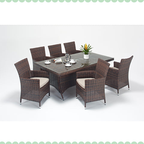 Port Royal Windsor 6 Seat Rectangle Dining Set