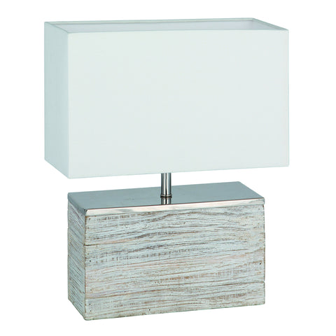 Grey Wash Wood Table Lamp - - Lamps by Pacific available from Harley & Lola