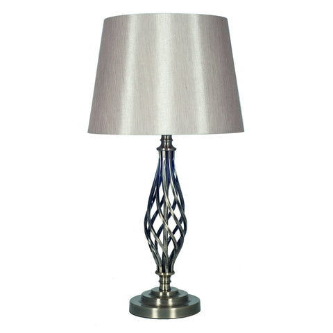 Silver Metal Table Lamp Complete -Silver Metal Table Lamp Complete - Lamps by Pacific available from Harley & Lola