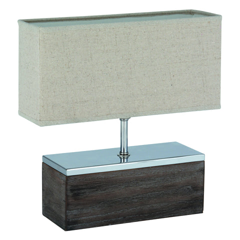Wooden Rectangle Table Lamp Complete -Wooden Rectangle Table Lamp Complete - Lamps by Pacific available from Harley & Lola