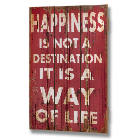 Happiness Is Not A Destination Plank Style Plaque - - Plaque by WDS4U available from Harley & Lola - 1
