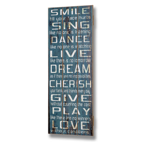 Smile Plank Style Plaque - - Plaque by WDS4U available from Harley & Lola - 1