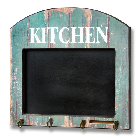 Kitchen Memo Board With Hooks - - Plaque by WDS4U available from Harley & Lola