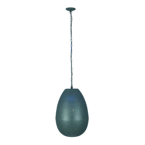 Oval Etched Grey Pendant -Oval Etched Electric Pendant in Grey Finish - Lamps by Pacific available from Harley & Lola