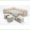 Port Royal Luxe Rustic Table Corner Sofa Left