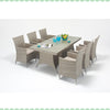 Port Royal Luxe Rustic 6 Seater Dining Set