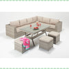 Port Royal Luxe Rustic Table Corner Sofa Right