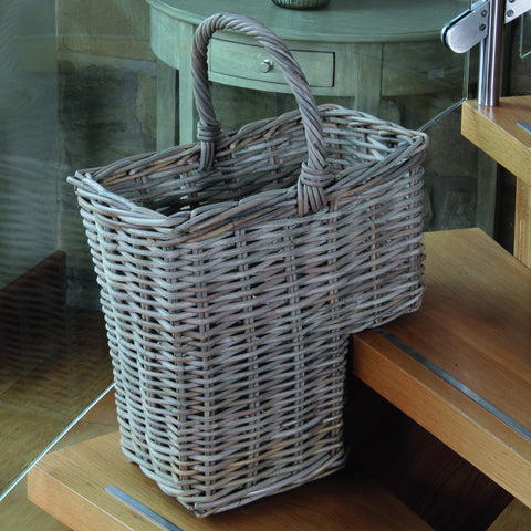 Grey Kubu Stair Basket -Grey Kubu Stair Basket - Storage by Pacific available from Harley & Lola